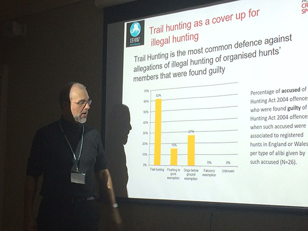 IFAW also sponsored a law enforcement workshop on trail hunting