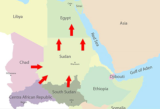 When you look at this route, from the beginning to the end, you will see a series countries mired in unrest, which makes it difficult to combat the illegal ivory trade.