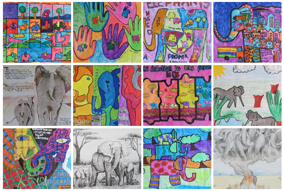 "Click here to view the ""Art for Elephants"" gallery."