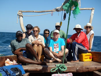 This year's Zanzibar Humpback Whale Research Team (missing: Jessica and Khamis Khamis)