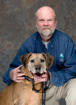 IFAW CEO Fred O'Regan and his dog Zeke.