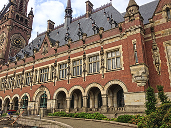 Peace Palace, The Hague, Netherlands site of the International Court of Justice hearing. c. IFAW/P. Ramage