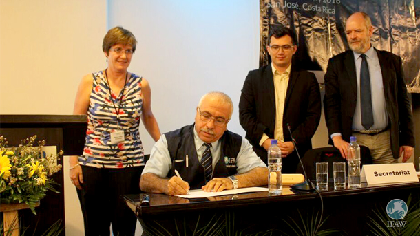 Akram Eissa Darwich, International Fund for Animal Welfare (IFAW) signing on the Cooperating Partner Document