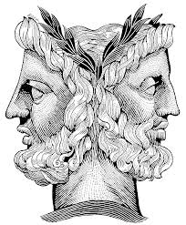 In ancient Roman mythology, Janus is the god of beginnings and transitions, of gates, doorways, passages and endings.