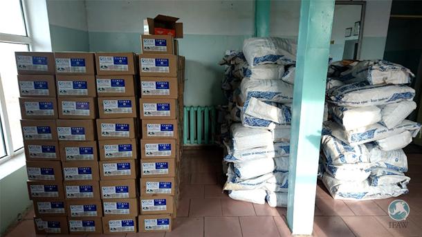 Futtervorräte für die hungernden Tiere wurden in die Mongolei geschickt.
