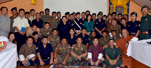 The day-long workshops were part of IFAW-WTI's ongoing wildlife crime control efforts in association with Bhutan's Department of Forests and Park Services