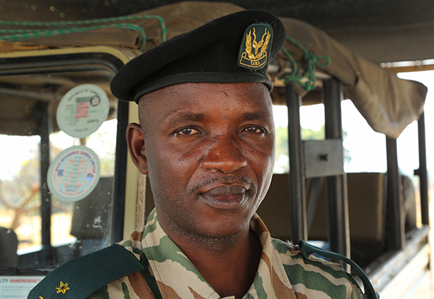 Commander Mbao has been working in wildlife protection and conservation for 25 years.