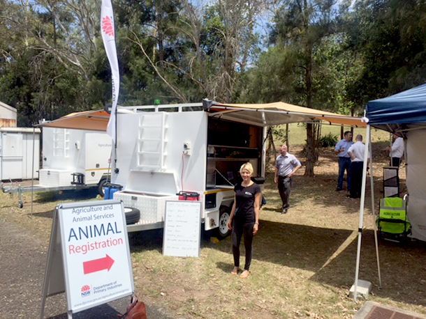 Josey Sharrad, IFAW's Native Wildlife Campaigner attends launch of Department of Primary Industries'(DPI)  response trailers with colleagues from DPI and other supporting organisations.