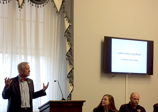 Representative Earl Blumenauer (D-OR) emphasizes the need for restrictions on big cat ownership and encourages other Members of Congress to support the Big Cat Public Safety Act.