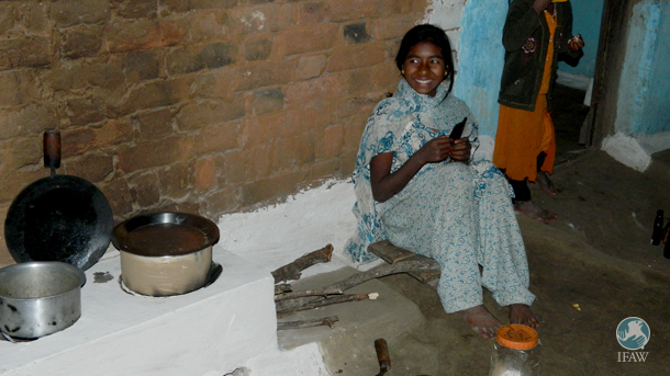 Approximately 1,500 households in Greater Manas have benefitted from fuel efficient cooking stoves and now another 1,450 have been installed in and around tiger habitats in Central India. PHOTO: © IFAW-WTI