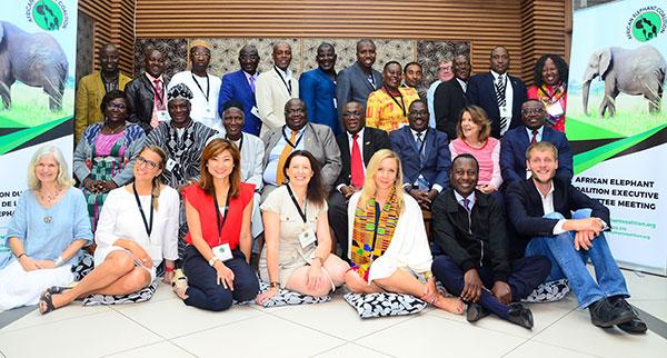 Le Kenya a réuni, à Nairobi, du 26 au 29 juin, les membres du comité exécutif de la Coalition de l'éléphant d'Afrique et certains de ses alliés parmi lesquels IFAW, représentée par Céline Sissler-Bienvenu, Directrice d'IFAW France et Afrique francophone. Photo @CEA