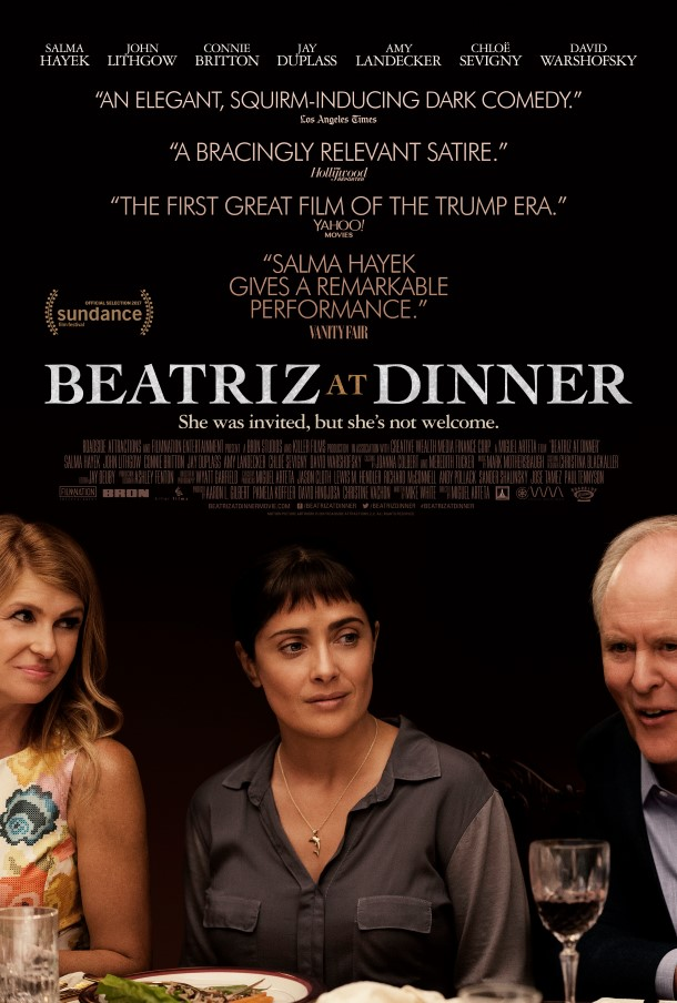 Beatriz at Dinner written by Mike White tackles trophy hunting head-on. The film will be released in U.S. theaters today.