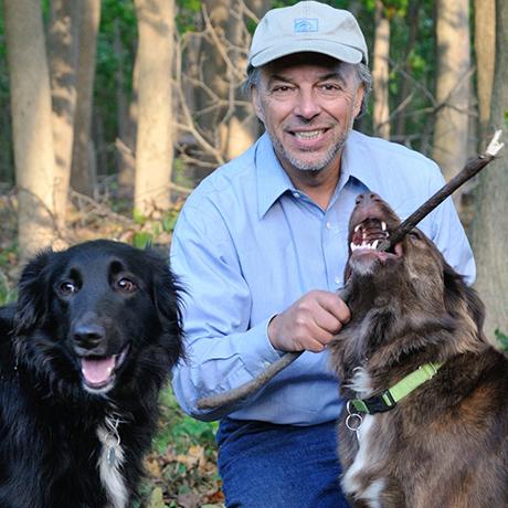 Carl Safina with Jude and Chula