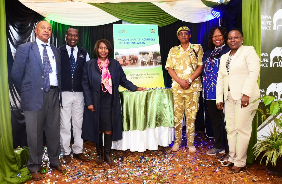 guests of the launch event at IFAW's exhibit in nairobi