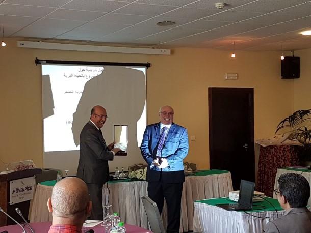 Le secrétaire général Abderrahim Houmy, et Azzedine Downes, Président directeur général d'IFAW, se sont tous deux exprimés en début d'atelier.