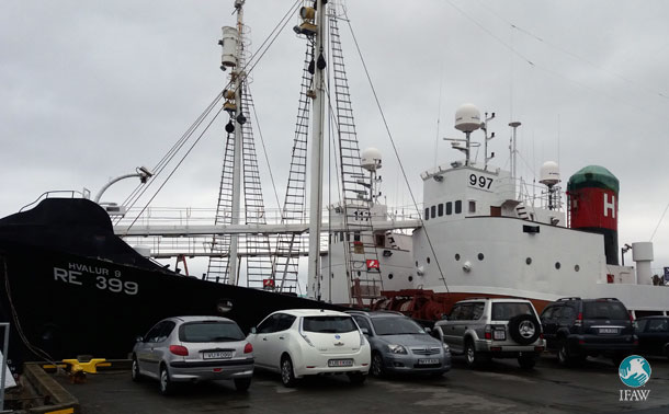 Iceland's whaling vessel