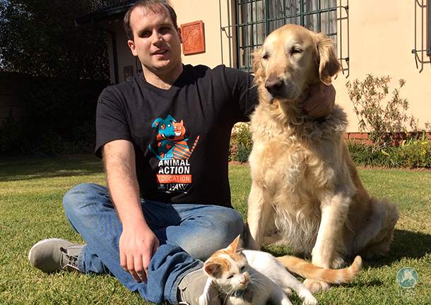 blind man and his love for his assistance dog in south africa