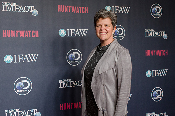 The author Kerry Branon attends the Discovery Huntwatch premiere in September, 2016. © IFAW