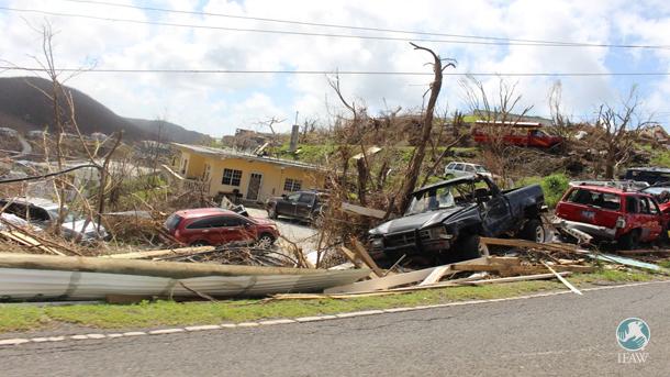 Saint John dévastée après le passage de l'ouragan Irma