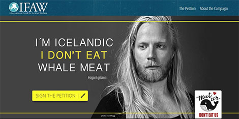 Sign the petition! Pledge not to eat whale meat!
