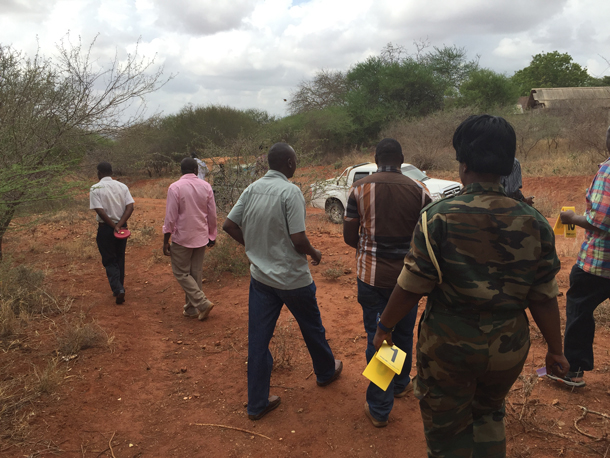 Crime scene training in Tsavo