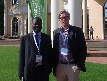 The author, (right) at the Elephant Summit in Botswana with IFAW East Africa Regional Director, James Isiche.
