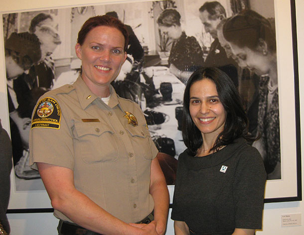 County of San Diego Department of Animal Services team member Jennifer Hill and the author.