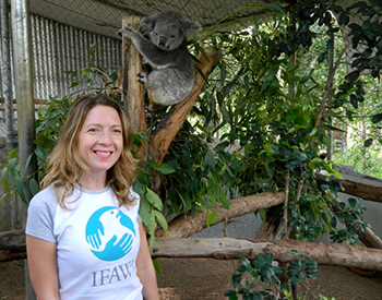 The author and a rescued koala.