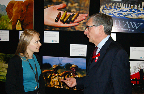 IFAW UK's Ros Leeming with Jim Fitzpatrick MP.