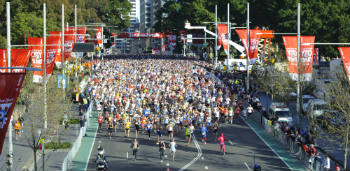 Competitors at the City2Surf run.
