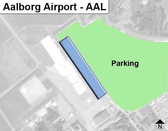 Aalborg AAL Airport Terminal Map
