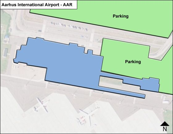Kolind Airport Overview Map