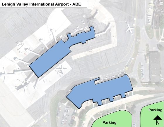 Lehigh Valley ABE Terminal Map