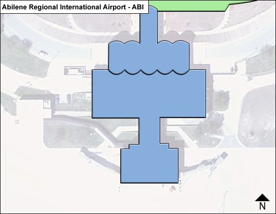 Abilene Airport Overview Map
