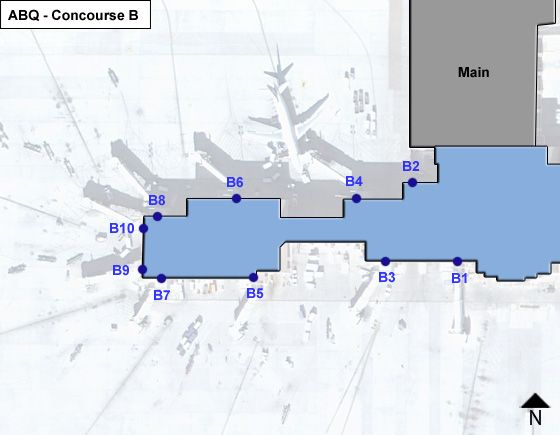 Albuquerque Sunport ABQ Terminal Map