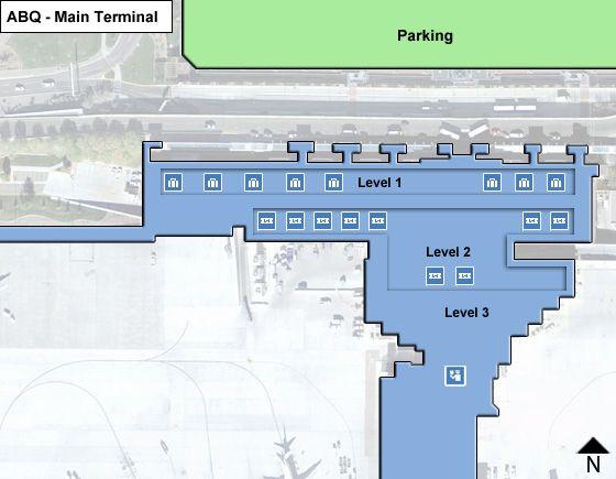 Albuquerque Airport Main Terminal Map