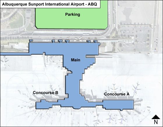 Albuquerque Airport Overview Map