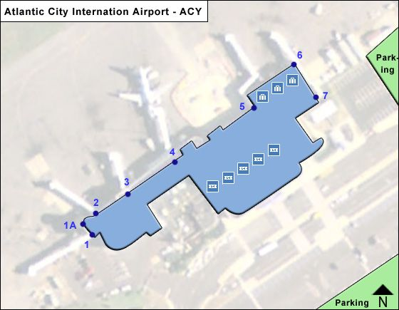 Atlantic City ACY Terminal Map