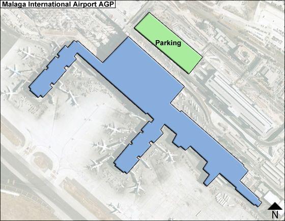 Malaga AGP Terminal Map