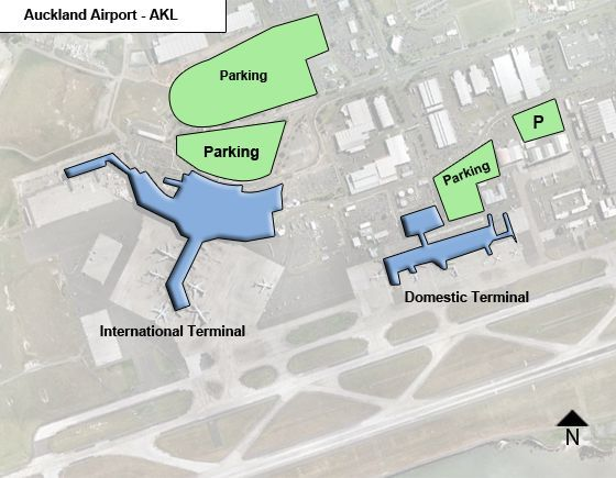 Manukau - Mangere, North Island Airport Overview Map