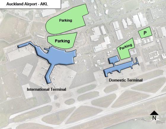 Auckland AKL Airport Terminal Map