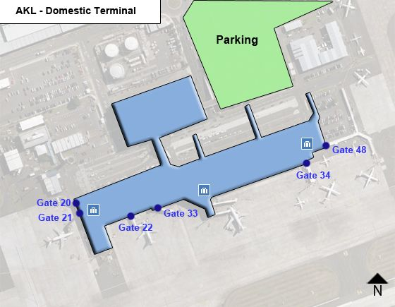 Auckland Airport AKL Domestic Terminal Map