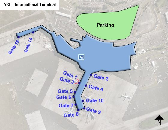 Manukau - Mangere, North Island Airport Intl Terminal Map