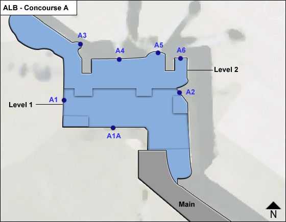 Albany Airport Concourse A Map