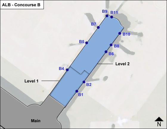 Albany ALB Terminal Map
