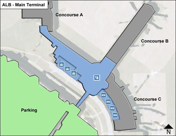 Albany Airport Main Terminal Map