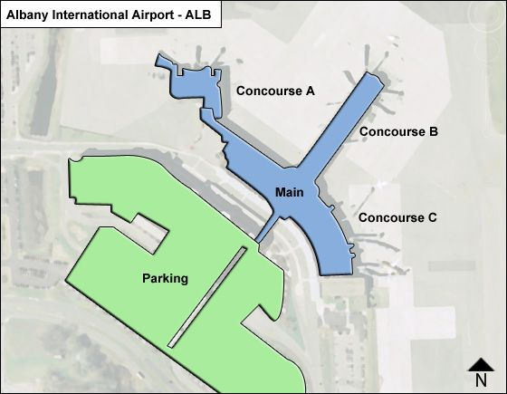 albany airport terminal map Albany Alb Airport Terminal Map albany airport terminal map