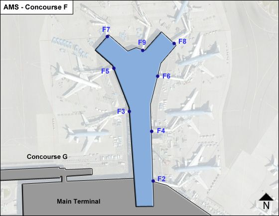 Schiphol Airport Concourse F Map