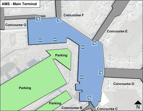 Schiphol Airport Main Terminal Map