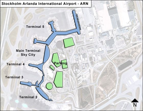 Stockholm Arlanda Arn Airport Terminal Map